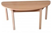Stôl pôlkruh