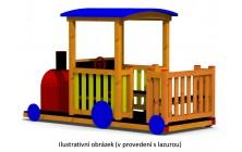 Mašinka dřevěná s tendrem
