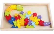 Písmenkove puzzle Dinosaurus