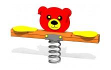 Pružinové 2miestne hojdadlo Medvedík
