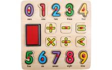 Pečiatky a puzzle Počítanie