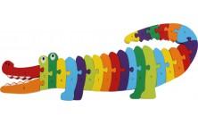 Písmenkové puzzle Krokodíl