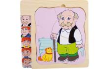 """Puzzle """"Dědečkův život"""""""