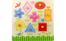 Vkladacie puzzle Geometrické tvary