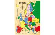 Vkladacie puzzle Európa
