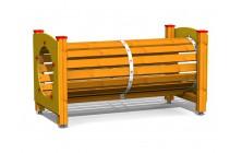 Preliezacie tunel drevený 2m