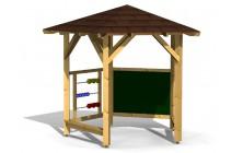 Školský altánok s lavičkami, počítadlom a tabuľou