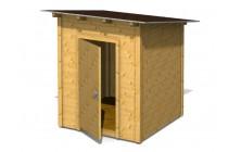 Domček s pultovou strechou